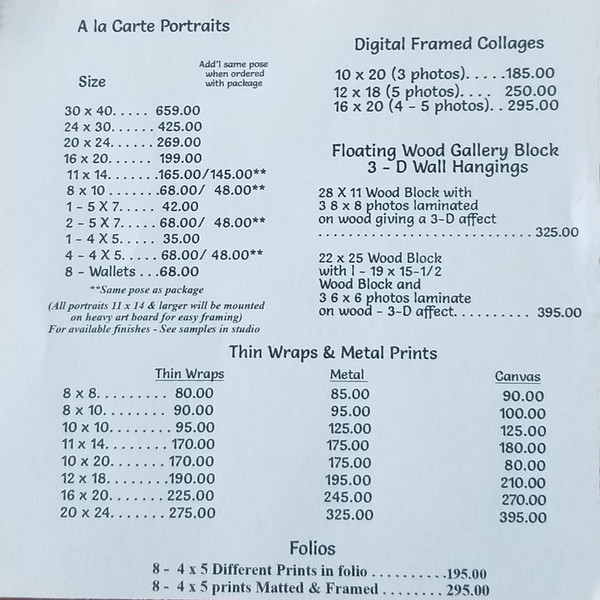 Page 2 Sr  Price List