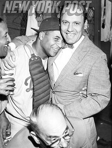 Brooklyn Dodgers WIN their first World Series in franchise history over the NY Yankees. 1955