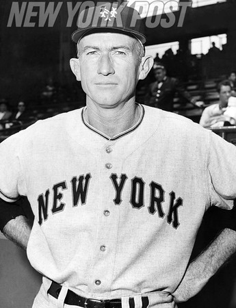 New York Giants manager Bill Rigney. 1956