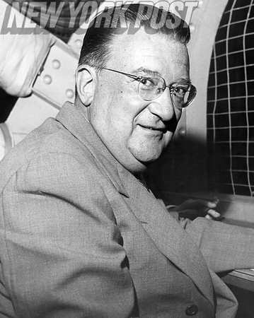 Walter O'Malley President of the Brooklkyn Dodgers. 1955