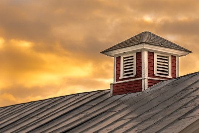 Red Cupola at Sunrise