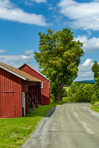 Red Barn along the Road