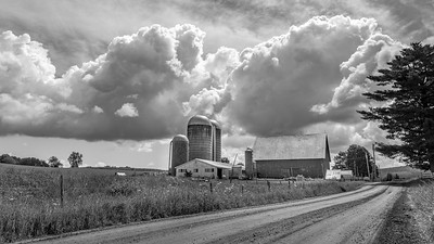 Black and White Farm Country