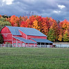 A horse lovers dream barn set among the fall colors.