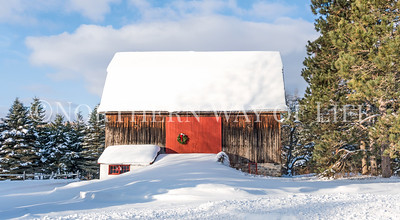 Snowy Barn: Leelanau County, Michigan