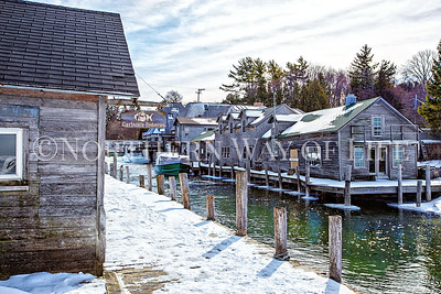 Fishtown in winter: Leland, Michigan