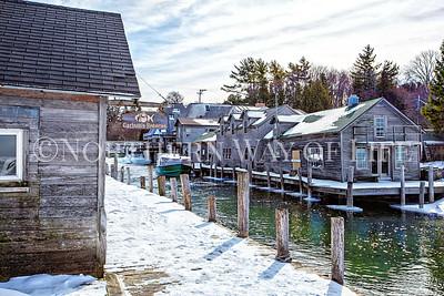 Fishtown in winter: Leland, Michigan