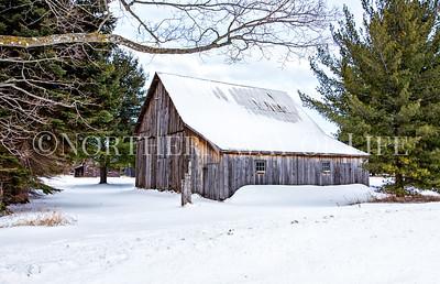 The Eckhert farm in winter: Port Oneida rural historic district, northern Michigan