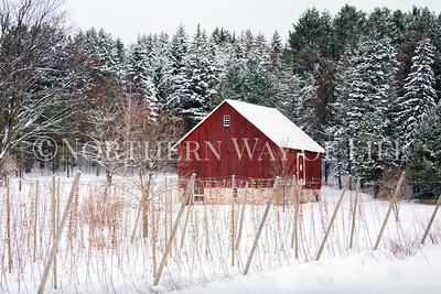 Red Barn in the snow: Leelanau County, Michigan