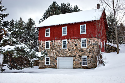 Red & Stone barn in Leelanau County