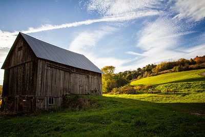 Old barn near Strafford Vermont fall hillside 10-12-15