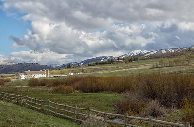 McPolin Farm and Barn daytime view 4-29-16 near Park City UT