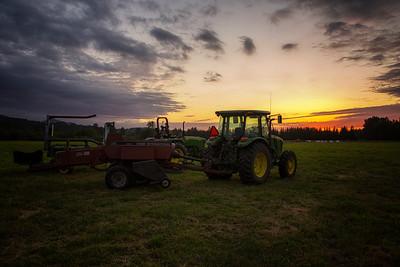 Making hay Meadowbrook Farm 6-11-15