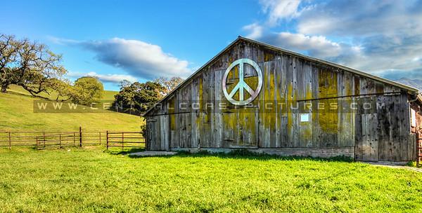 peace barn-clouds
