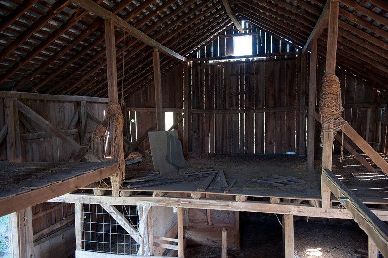 Interior, view, of, the, WIll, Whitner, Barn., Construction, was, with, Mortise, and, Tenon, joints