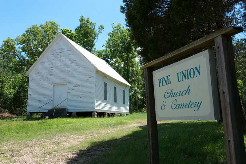 Pine Union Church located SW of Patton, MO