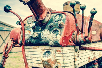 Old tractor dashboard