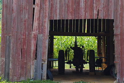 Tractor in Barn