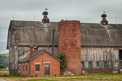 Brick Silo and Milkhouse
