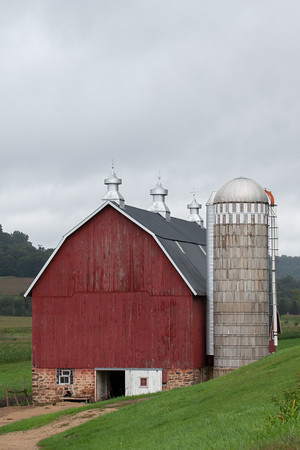 Dairy Barn and Silo