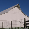 Gambrel extended style barn near Charleston, Illinois