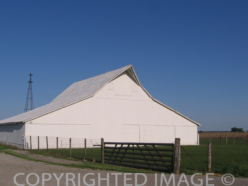 Gambrel extended style barn.