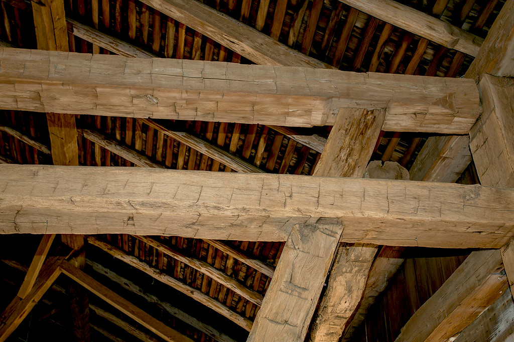 Hand hewn beams-46