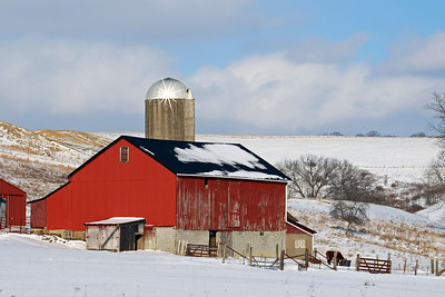 """Red Barn and Silo"""