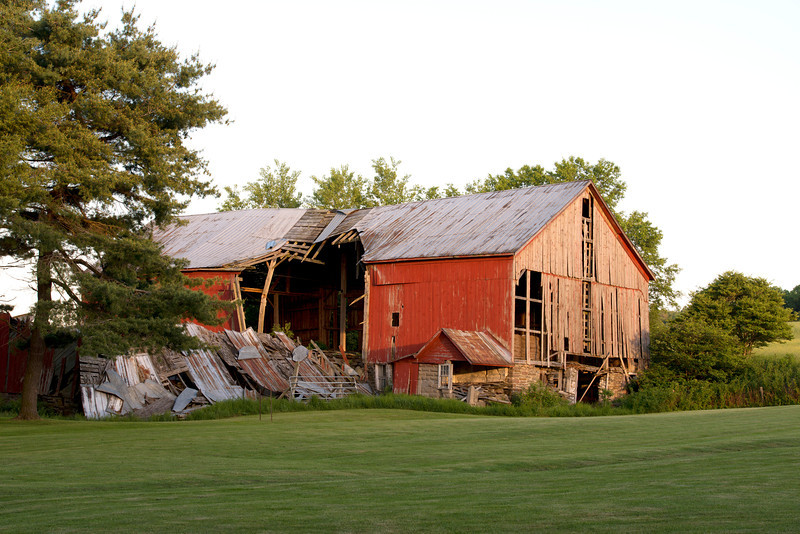May 2012 - This is one of the reasons I photograph barns.  More and more are falling down or being torn down.  These old tired beauties are a dying breed.