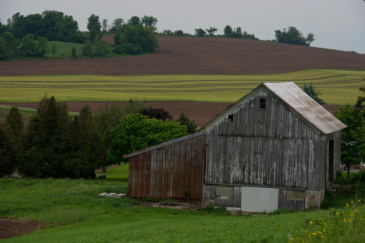 May 2012 between Paris and Waterville, NY.  Take a look at this barn from November 2011.  It can be found in my 2011 Photo of the Day gallery.  What's different?