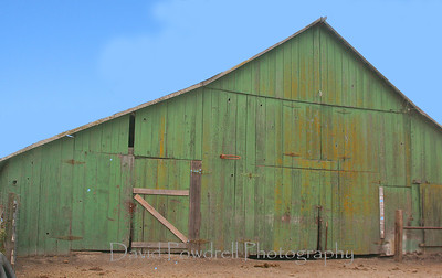 Green barn near Buellton.
