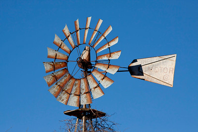 Rusty Windmill Wheel.