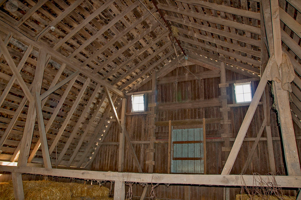 M. Ginerich Barn interior View.