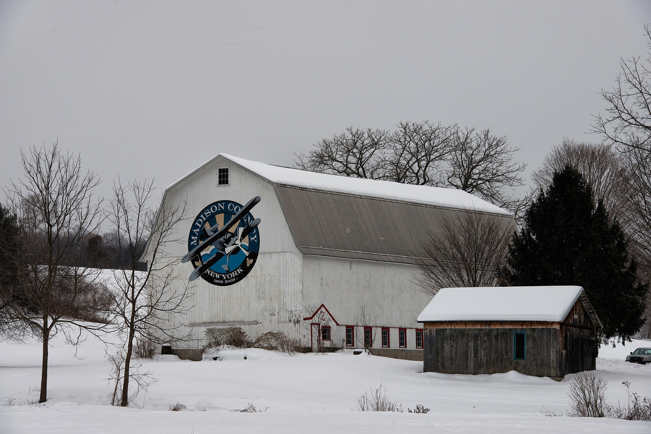 Madison County Bicentennial Barn - Town of Sullivan. Route 13 (On east side, south of the Village of <br /> Chittenango)