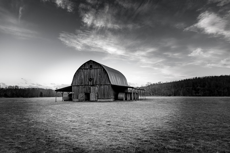 Smith Barn in Black and White