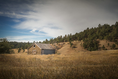 Retired building in the Black Hills of South Dakota