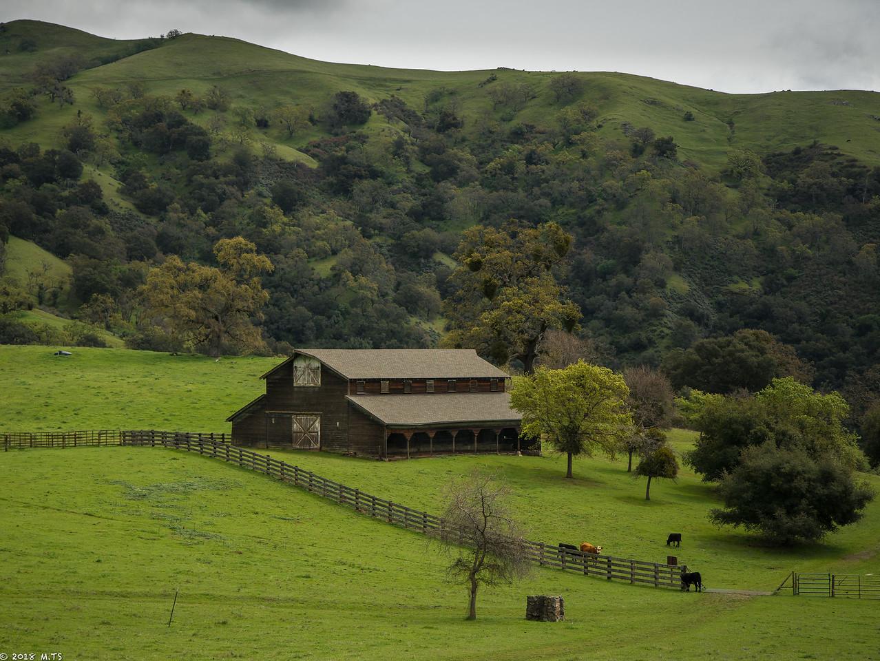 A Barn in Sunol-Ohlone WIlderness