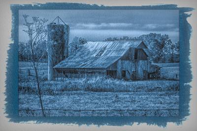 Cyanotype  Barn in IN