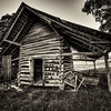 Plow Point Shed in Black and White