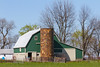 Barn Near Oblong, IL with Silo