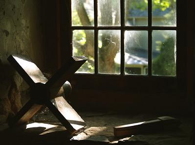 Window at Burwell Morgan Mill in Millwood, VA