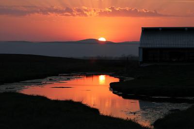 * April 11, 2011. Sunset on the Mason Dixon Line.