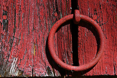 * March 8, 2011 Ring on an old red barn.