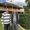 Local Barossa historian Luke Rothe with Glen Williams of Gawler, Coulthard House in the back ground