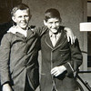 Stanley Scholz on left with friends Bob Johnson