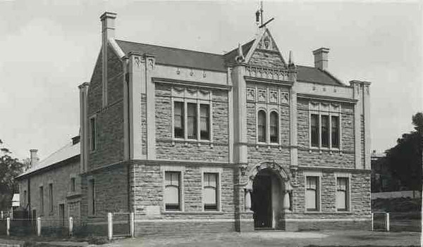 The preachers were also having meetings in this Angaston Town Hall in a small room entry was via side door