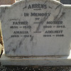 Resting place of friend Amalia (Molly) Ahrens