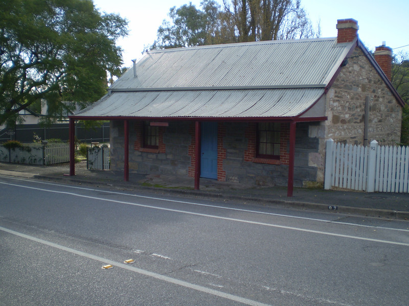 In this cottage the first fellowship meeting was held in the Barossa Valley 1924 while occupied by Mrs Strother, it is now a B & B (photo taken 1st July 2011)