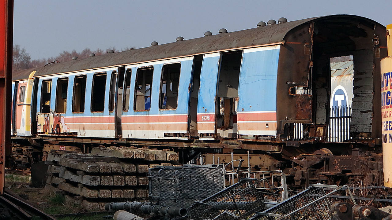 BR 62378 Motor Brake Second of 4-CIG EMU 22,3,2012. (Now Scrapped 2012)