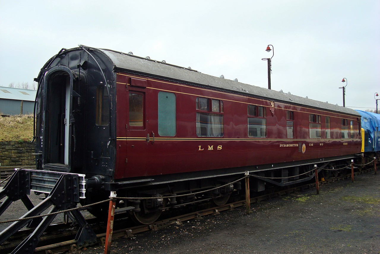 LMS 45049 Dynamometer Car 27,2,2010 (Now At Midland Railway)